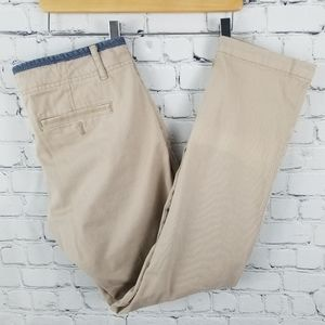 PILCRO & THE LETTERPRESS   Hyphen tan chino pants